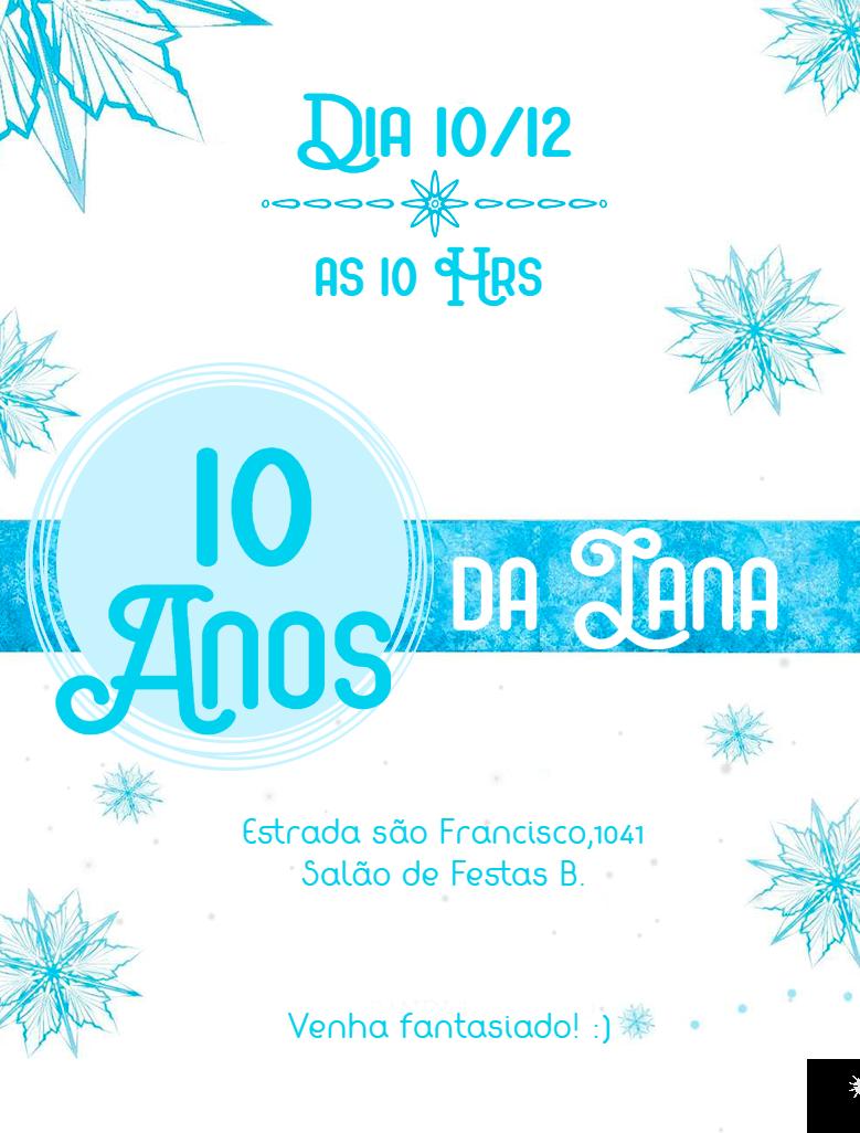 Convite Aniversário Frozen, Branco, Azul, Gelo, Congelante, festa, comemoração, celebração, online, digital, personalizado, whatsapp, criança