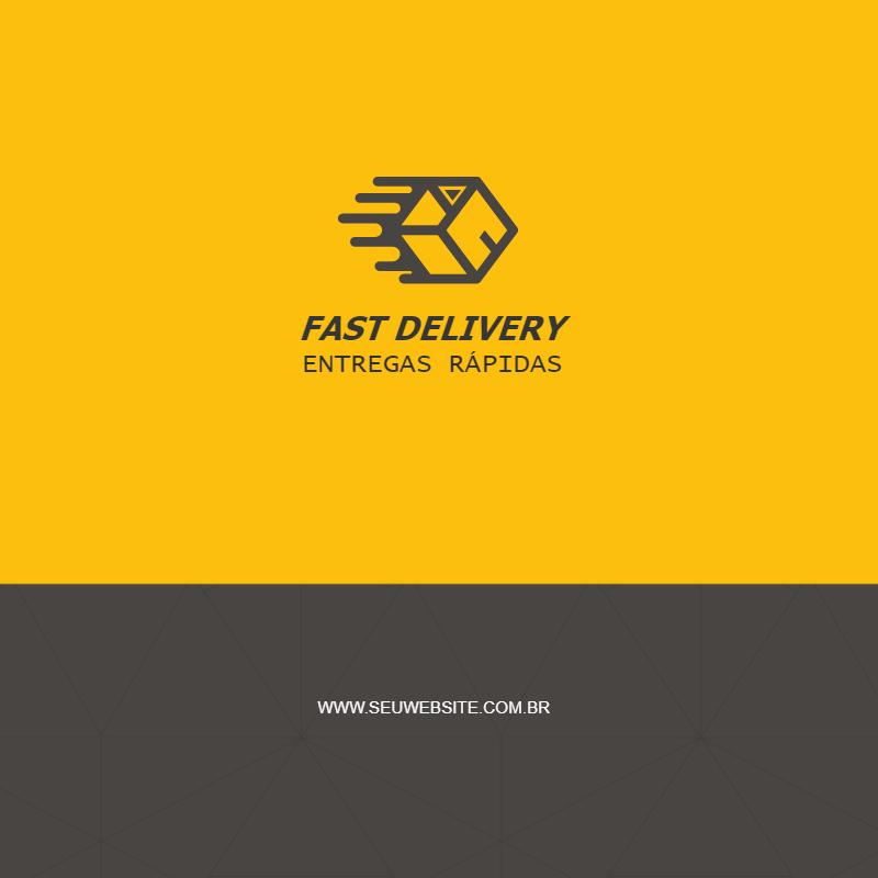 Cartão Visita, ágil, Delivery, entrega, rápida, Fast, logo, logomarca, logotipo, agilidade, amarelo, site, online, divulgação, digital, personalizado, whatsapp