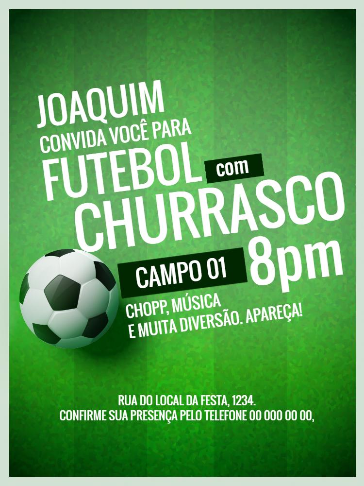 Convite Futebol, festa, comemoração, aniversário, adulto, futebol