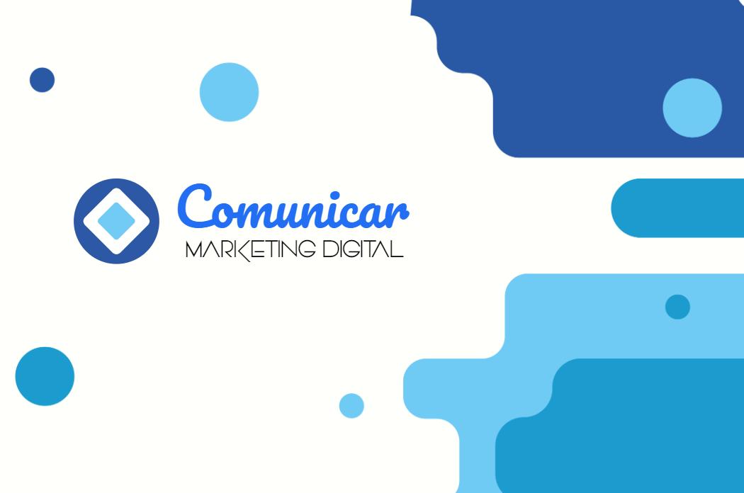 Cartão Frente Comunicação, Comunicação, Marketing, Digital, Agência, Mídias, Sociais, Administrador, Designer, logo, logomarca, online digital, personalizado, whatsapp, azul, branco