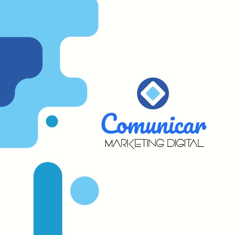 Logotipo, Comunicação, Marketing, Digital, Agência, Mídias, Sociais, Administrador, Designer, logo, logomarca, online digital, personalizado, whatsapp, azul, branco