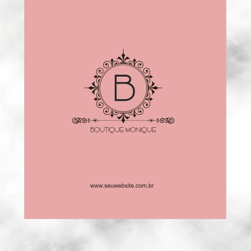 Cartão Visita, boutique, loja, roupas, feminina, mulheres, elegante, moderno, delicado, logo, marca, online, digital, personalizado, whatsapp
