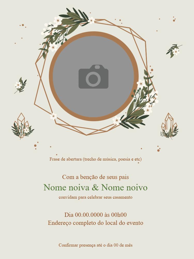 convite casamento, festa, hispter, foto, flores, aniversário, natureza, adulto, comemoração, celebração, digital, online, personalizado, whatsapp