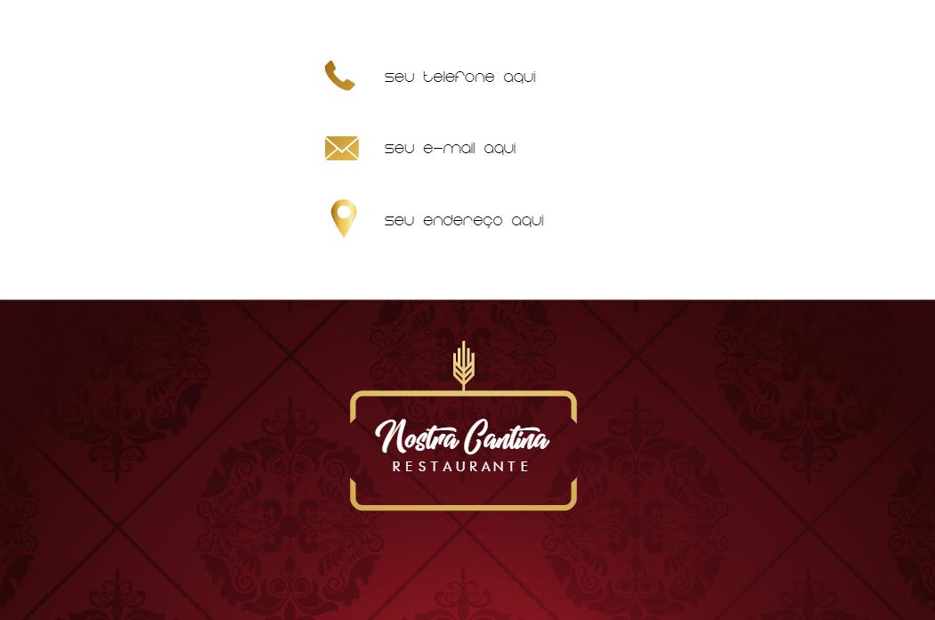 Cartão de Visita Verso Alimentação, comida, restaurante, italiana, massa, casa, massas, bordo, dourado, online, digital, personalizado, whatsapp, propaganda, divulgação