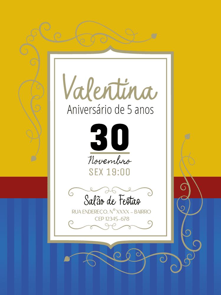 Convite aniversário Branca de Neve, festa, disney, infantil, menina, amarelo, vermelho, azul, arabesco, delicado, comemoração, celebração, online, digital, personalizado, whatsapp