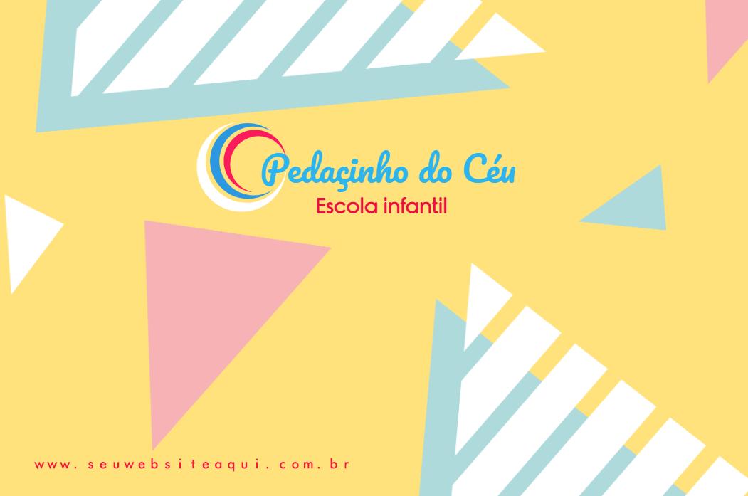 Cartão de Visita Frente Infantilidade, crianças, escola, infantil, escola, escolinha, infantil, buffet, infantil, colorido, online, digital, personalizado, whatsapp, divulgação