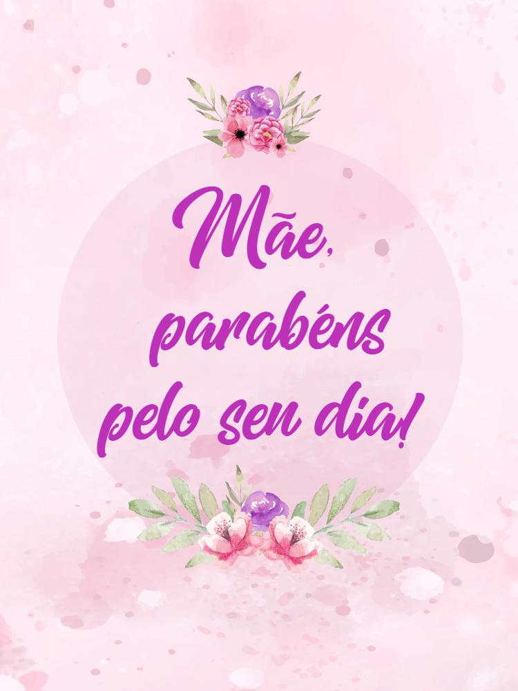 Cartão do Dia das mães, rosas, rosa, feminino, felicitações, parabenizar, online, digital, personalizado, whatsapp