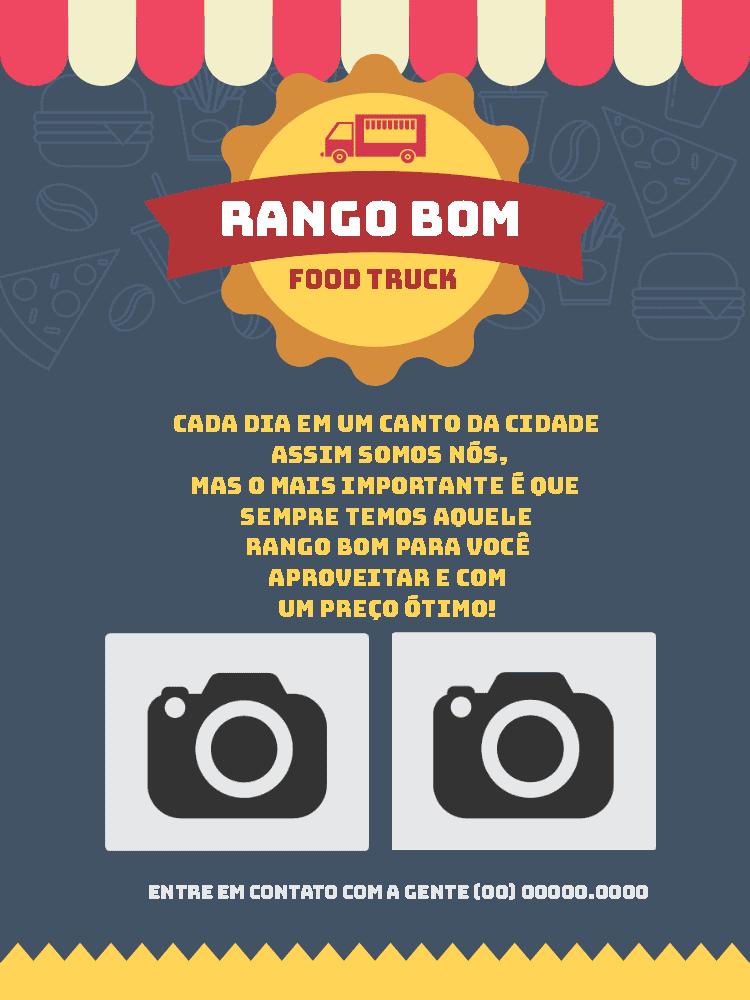 Convite Food Truck, inauguração, comida, divulgação, propaganda, comemoração, celebração, online, digital, personalizado, whatsapp, foto