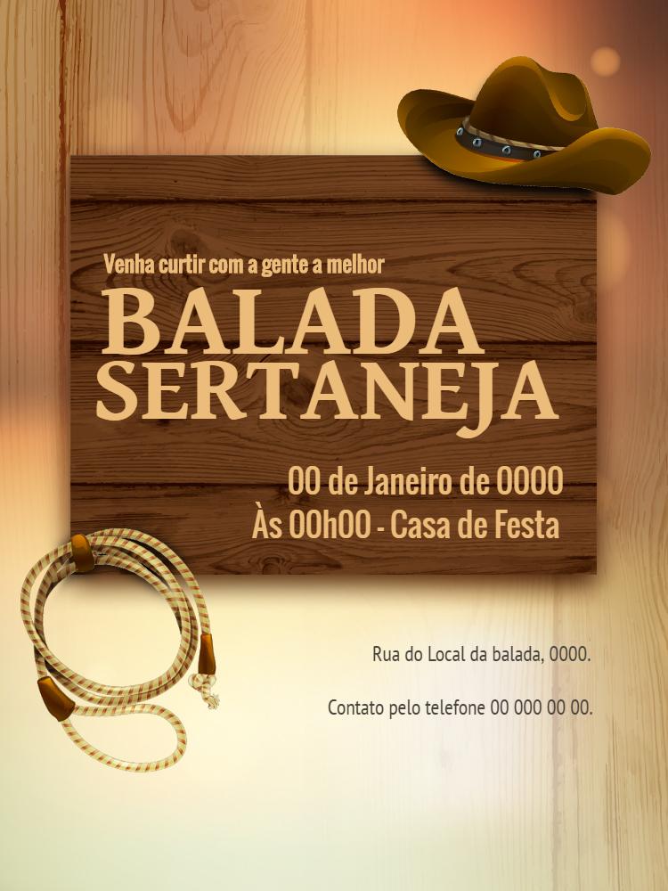 Convite Sertanejo aniversário, balada, festa, comemoração, música, adulto, sertaneja, country, Cowboy, chapéu, laço, comemoração, celebração, online, digital, personalizado, whatsapp, aniversário