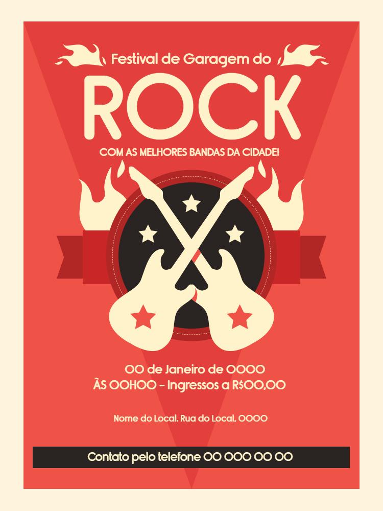 Convite aniversario Rock, música, festa, adulto, guitarra, festival, banda, aniversário, comemoração, celebração, online, digital, personalizado, whatsapp
